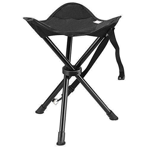 Se Pliant Chaise de Camping Chaise de Lune Chai Mini Ultralight Portable Camping Backpacking Tabouret Triangulaire Folding Chair Outdoor Activities Couleur Aléatoire Acier Inoxydable
