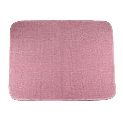 LOVIVER Montessori Kinderteppich Babyteppich Bodenteppich Spielteppich Krabbeldecke - 110x70cm Pink
