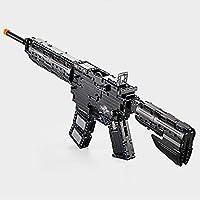 組み立てブロック銃玩具を構築組み立て子供のおもちゃのパズルは、軍事技術のモデルのおもちゃのシミュレーション設計開発インテリジェンスを起動することができます