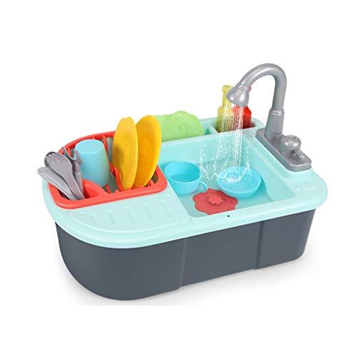 Juguetes de cocina, utensilios de cocina, accesorios de cocina, accesorios de cocina, simulación de cocina y simulación de cocina (juego de 20 piezas) (color: azul)
