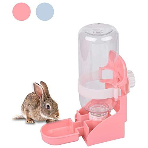 kathson Rabbit Water Bottle, 17oz Hanging Water Fountain Automatic Dispenser No Leak WaterFeeder for Bunny Chinchilla Guinea Pig Hedgehog Ferret