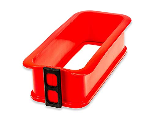 Berger Import Silikon Springform Kastenform Kuchenform Backform Auflaufform mit Glasboden eckig rot 25x10x7 cm