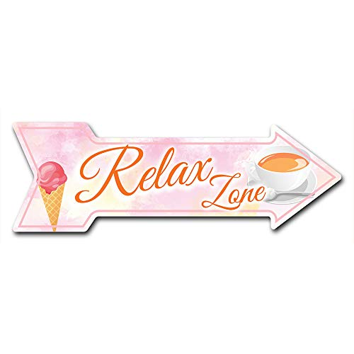 """SignMission Decal Art Relax Zone Decal Indoor/Outdoor Decor 24"""" Directional Sticker Vinyl Wall Decals"""