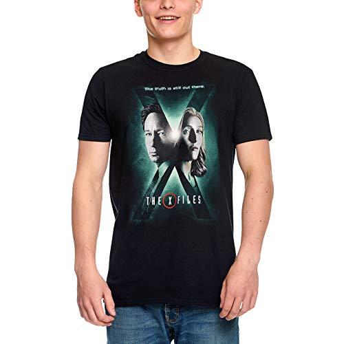 Akte X Herren T-Shirt Season 10 Poster Mulder & Scully Baumwolle schwarz - XXL