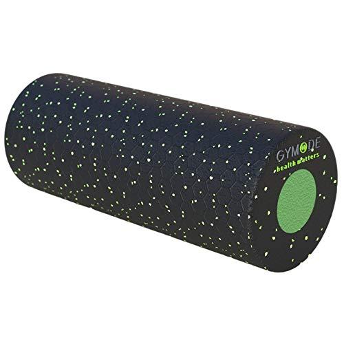 Gymode Faszienrollenset 2 in 1 Massagerollen mit herausnehmbarem Kern für Rücken, Nacken und Beine; mittelharte Trainingsrolle (schwarz/grün)
