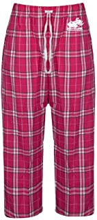 CollegeFanGear Rose Hulman Ladies Dark Fuchsia/White Flannel Pajama Pant 'Official Logo'