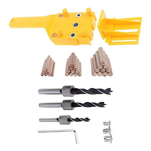 HiCollie ドリルガイドセット 木工用 垂直穴あけガイド 6 8 10mm ダボ穴ガイド HSSドリルビット