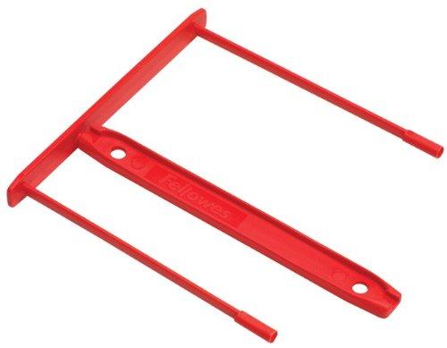 100x Rote Archivclip, Archiv Abheftbügel, 2 teilig, Archivclips für Ordner, Rot, 5-100x Rot