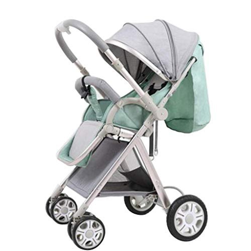 Lowest Price! ETERLY High Landscape Stroller, Can Sit Reclining Two-Way Shock Absorption Portable Fo...