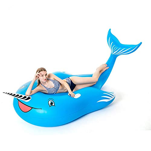 巨大で膨脹可能なクジラのプールの浮遊物速い弁の大きい乗車可能な爆発の夏の浜のプール党ラウンジいかだに乗って。