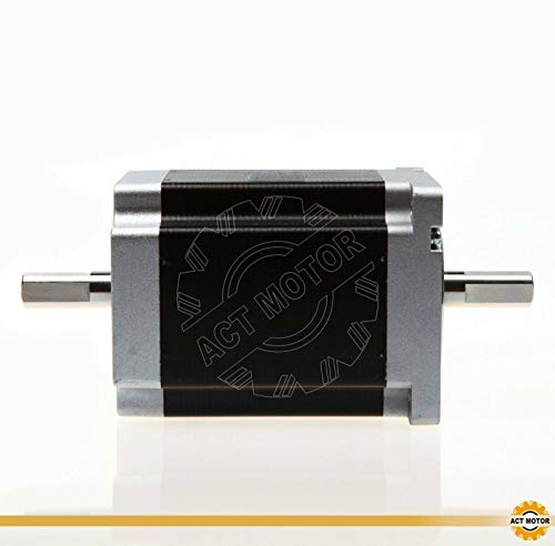 DE-SHIP FREE 1PC 34HS1456B Nema34 Stepper Motore Bipolar 116 mm 1232 oz in Double Dual Flat Shaft 5.6A 1.8° CNC OEM ACT MOTOR GmbH