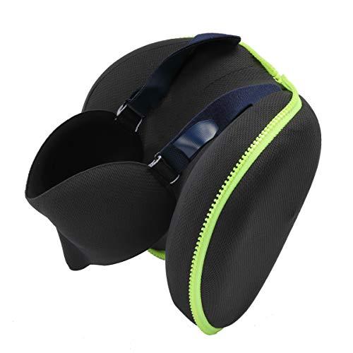 Comoda Almohada viaje, Almohada de cuello de espuma de memoria Máscara de ojos 3D, máscara de sueño de almohada de viaje plegable con cinturón ajustable para proporcionar el mejor sueño