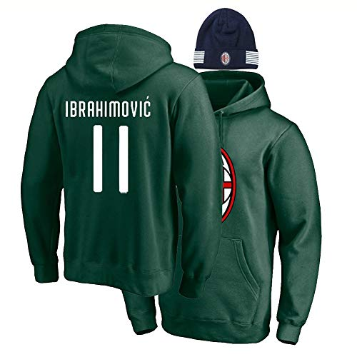 XH Sport Hoodie Zlatan Ibrahimovi □ 21# Lose Sweatshirt Männer Frauen Sportswear Winter Pullover 3-XL (Color : Green 1, Size : Small)