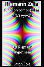 Riemann Zeta function computed as  ζ(0.5+yi+zi): 3D Riemann hypothesis