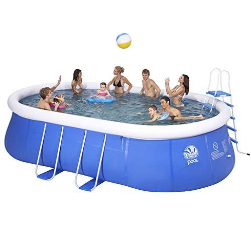 WARM ROOM Swimmingpool, Kinderbecken für Erwachsene, großer ovaler Privatpool, Verdickung der Außenhalterung im Sommer, Umweltschutz,310 * 200 * 80cm