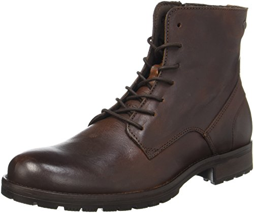 JACK & JONES Herren JFWORCA Leather Klassische Stiefel, Braun (Brown Stone), 43 EU