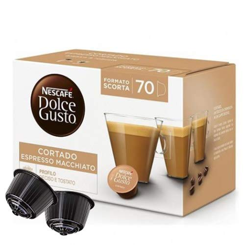70 Capsule Caffe Cortado Nescafe Dolce Gusto Espresso Macchiato