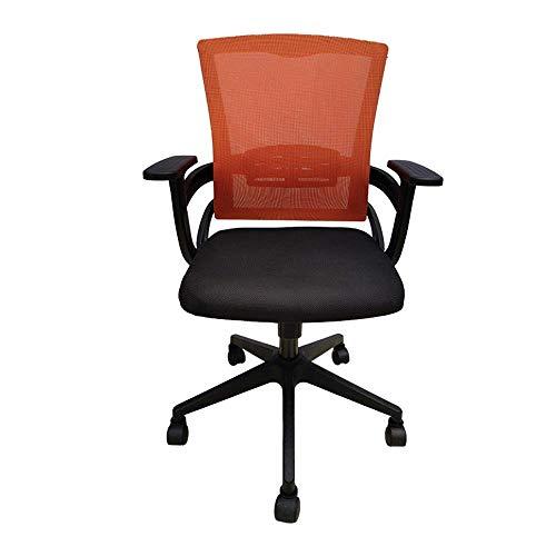 LULUTING Bürodrehstuhl Adjustable Back Office Swivel Aufgaben-Stuhl Breathable Ineinander greifen-Stuhl Computer-Büro-Stuhl (Farbe: Orange, Größe: 100 * 61cm)