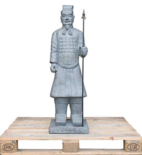 Lüllmann XXL Terracotta Krieger Skulptur Indoor Outdoor Garten Deko Figur 120 cm 406171