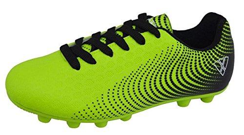 Vizari unisex-kid's Stealth FG Green/Black size 1 Soccer Shoe, 1 Wide US Little Kid
