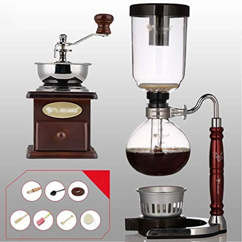 Manual Coffee Grinder -Siphon Cafetera café establecer Sifón tótem serpiente del zodiaco Sifón jarra de café Pot 3 tazas, 110 * 352mm de vacío máquinas de café Haike WTZ012