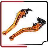 LIBEI manetas Moto Ajuste for Suzuki GSR GSR 750 2011-2018 600 2006-2011 400 2008-2012 GSR Accesorios de Motos CNC Corto Freno palancas de Embrague Logo GSR maneta Embrague Moto (Color : Orange)