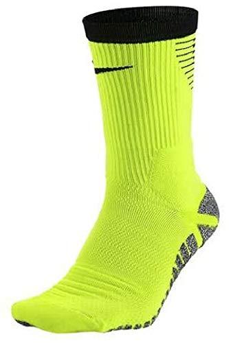 Nike U NG Strk LTWT Crew–Calzini per Uomo, Uomo, U NG Strk LTWT Crew, Giallo/Nero Volt, 2XL