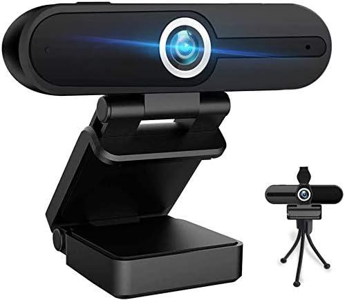 Cámara web con micrófono, 2K Ultra HD Web Cam incluida cubierta de privacidad y trípode, cámara USB para ordenador PC de sobremesa, gran angular Streaming Webcam Plug and Play videoconferencia juego (W4A)