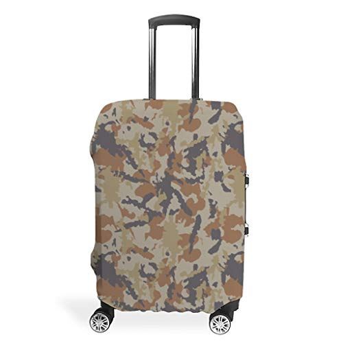 Travel Camouflage Suitcase Cover Protector - Prints Multi Size Suit for Most Trolley White m (60x81cm)
