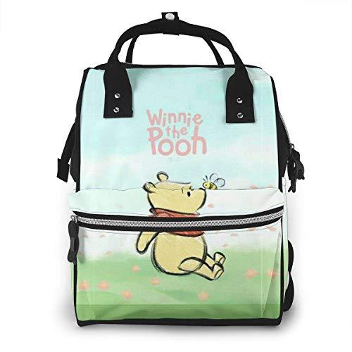 Sac à Dos Sac à Langer - Winnie l'ourson Multifonctionnel étanche Sac à Dos de Voyage maternité bébé Nappe Sacs à Langer