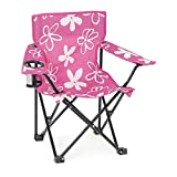 Emily Rose Kids' Folding Camp Chair with Child Safety Lock and Carry Case | Doll Chair NOT Included