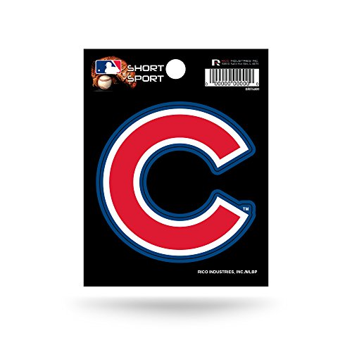 Rico Industries SRT5301 MLB Chicago Cubs Short Sport Decal,Red,3.5' x 4.5'