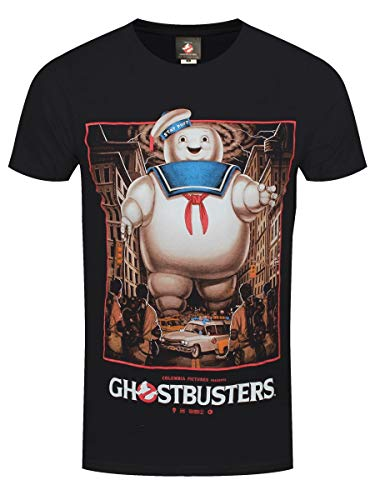 Men's Official Stay Puft Marshmallow Man Scene T-shirt, S to 5XL