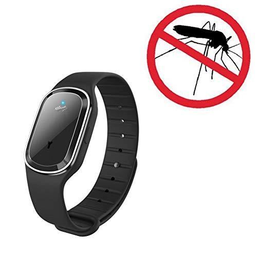 Jinclonder, Mosquito Ultrasónico Pulseras de Cuero repelentes portátiles Pulsera Repelente de Mosquitos