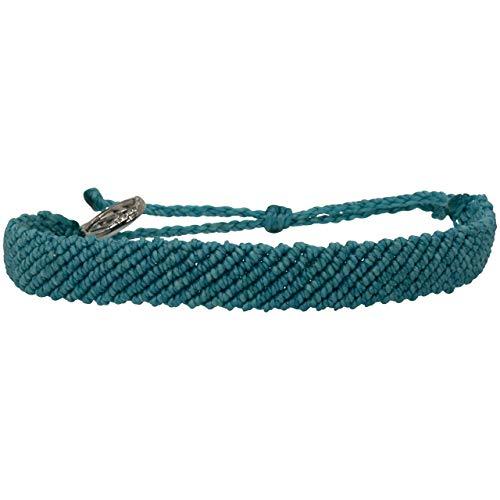 Life on Motion Handmade Bracelet Aqua Jungle Waterproof Adjustable Modern Braided Wax Coated Jewelry For Men Women Teens Girls Couples Friendship Beach Life…