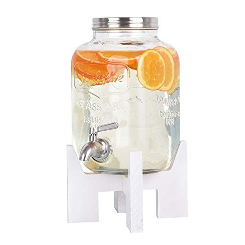 CWYPC Dispensador De Bebidas con Grifo, Dispensador De Agua para Garrafas Dispensador De Zumo, con Soporte y Tapa, Ideal para Fiestas y Buffet 4L/8L4L