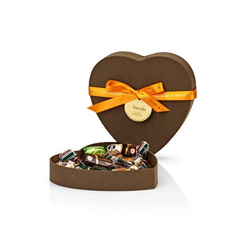 Venchi Surtido De Chocolates Negro Y Con Leche Presentado En Una Caja De Regalo En Forma De Corazón - Sin Gluten 252 g