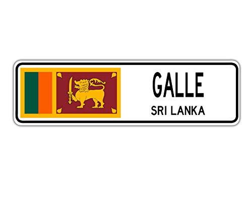 TammieLove Galle, Sri Lanka Straßenschild Sri Lanka Flagge Stadt Land Straße Wand Geschenk Straßenschild 10,2 x 40,6 cm