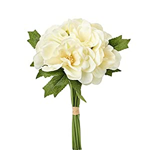 Event Decor Direct Artificial Gardenia jasminoides Flower Bouquet – 24 Bunches – Ivory. 7.5″ W x 10″ H