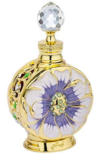 LAYALI Perfume Oil for Women 15mL | Delicate Florals with sultry Black Currant, Plum, Ylang, Rose, Jasmine and Amber | Natural Alcohol Free Attar | Exotic Body Oil by Artisan Swiss Arabian Oud