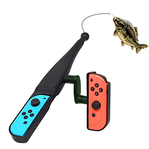 LYCEBELL Canne à pêche pour Nintendo Switch Joy Con, Compatible avec Nintendo Switch Legendary Fishing, Fishing Star World Tour et Autres Switch jeu de pêch
