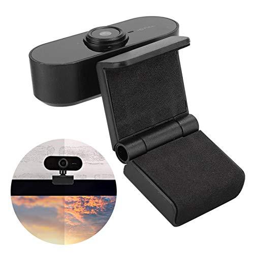 Shipenophy Cámara Webcam USB Free-Drive con micrófono(Black)