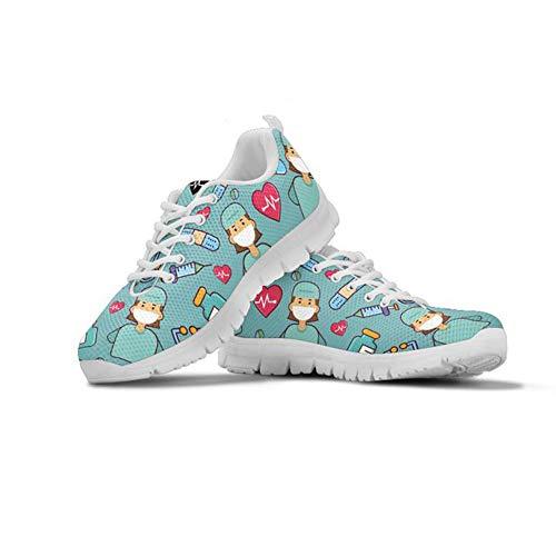 Coloranimal - Zapatillas de correr para mujer con malla de aire, ligeras, informales, para uso diario