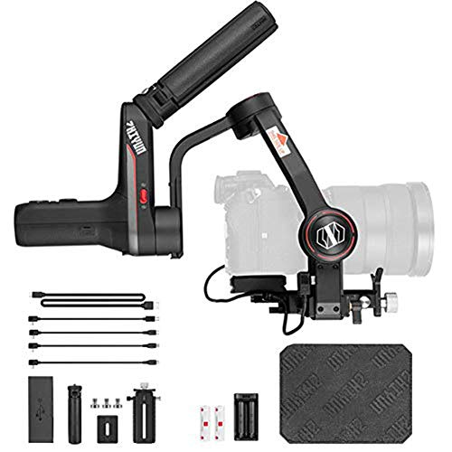 Zhiyun Weebill S 3-Axis Gimbal for Mirrorless and DSLR Cameras Like Sony A7M3, 300% Improved Motor Than Zhiyun Weebill Lab A4 Compact Size 14-Hour Runtime