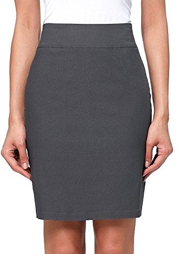 Kate Kasin damskie podstawowe dobrze elastyczne ubrania biurowe biznesowe formalne spódnice ołówkowe KK268