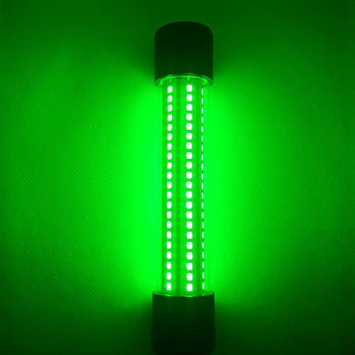 WESLITE Luz Verde de Pesca Submarina de 12V 20W 126LED Luz de Pesca Nocturna de Cebo de Calamar de Tipo de Pez Luz de Atracción de Pesca en Hielo Lámpara de Buscador de Peces con Cable de 5M (Verde)