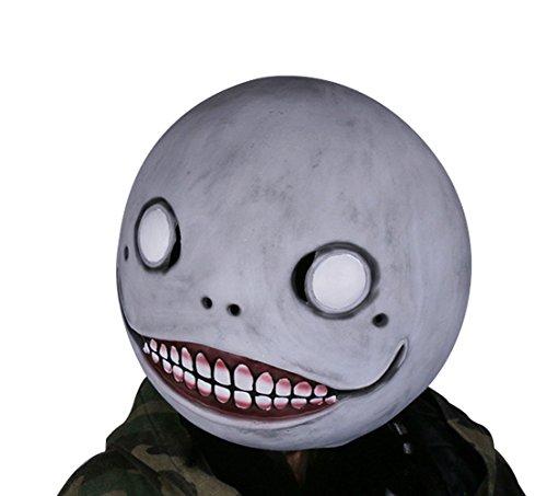 Xcoser Halloween Emil Maske Grau Latex Helm Spiel Cosplay Kostüm Merchandise für Herren Kleidung Verrücktes Kleid Zubehör