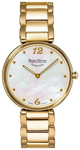 Bruno Söhnle Damen Analog Quarz Uhr mit Edelstahl Armband 17-33185-950