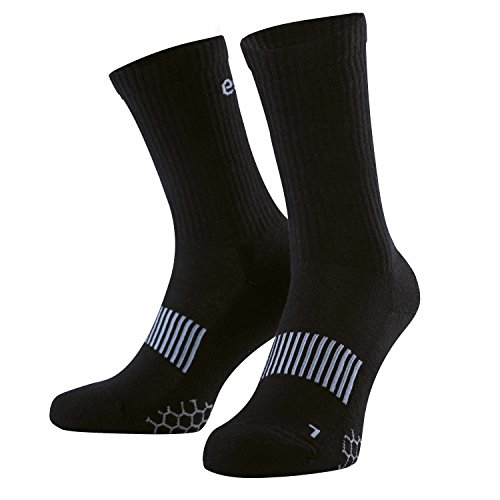 Eono by Amazon - Performance Sportsocken (3er-Pack), Unisex, Farbe: Schwarz, Größen: UK 9-12, EU 43-46