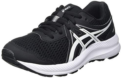Asics Contend 7 GS, Road Running Shoe, Black/White, 32.5 EU